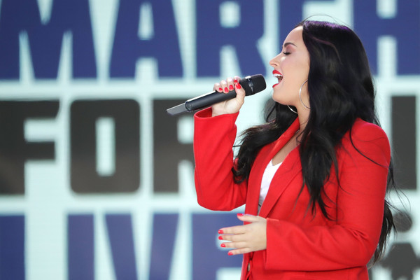 Demi Lovato Red Nail Polish