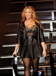 True to its roots, Demi's leather jacket is all rock and roll.