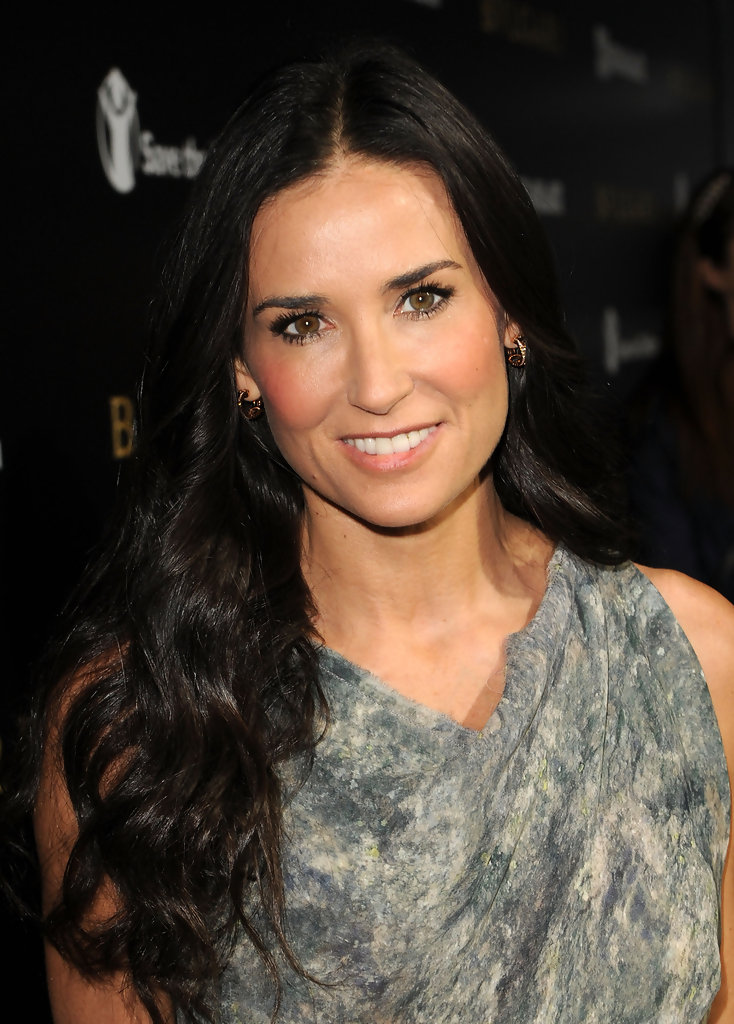 Demi Moore False Eyelashes Demi Moore Looks Stylebistro