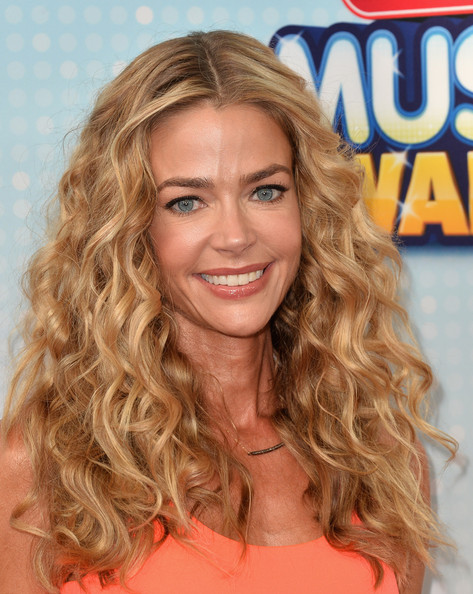 Denise Richards Nude Lipstick [hair,blond,face,hairstyle,ringlet,long hair,brown hair,hair coloring,chin,surfer hair,arrivals,denise richards,california,los angeles,nokia theatre l.a. live,radio disney music awards]