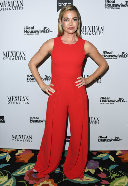Denise Richards Jumpsuit [the real housewives of beverly hills,season,clothing,dress,carpet,shoulder,red carpet,fashion,fashion model,flooring,premiere,event,arrivals,denise richards,gracias madre,west hollywood,california,premiere party,bravo,mexican dynasties]