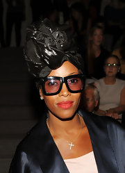 June Ambrose carried her leather turban well at the Dennis Baso Spring 2011 collection launch for the MB Fashion Week.
