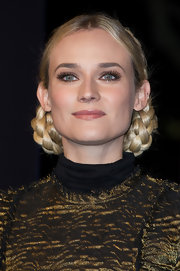 Diane Kruger's blonde braided buns had a powerful Princess Leia sensibility to them.