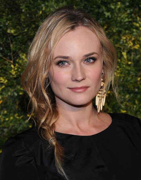 Diane Kruger Long Braided Hairstyle Hair