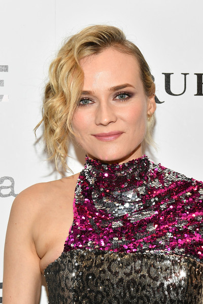 Diane Kruger Messy Updo [in the fade,hair,lip,blond,hairstyle,clothing,beauty,eyebrow,neck,shoulder,pink,diane kruger,new york city,museum of modern art,new york premiere]