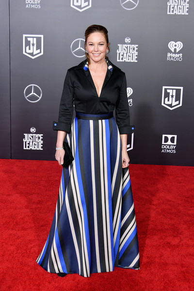 Diane Lane Tunic [justice league,red carpet,carpet,clothing,dress,flooring,fashion,premiere,fashion model,hairstyle,a-line,arrivals,diane lane,california,hollywood,dolby theatre,warner bros. pictures,premiere,premiere]