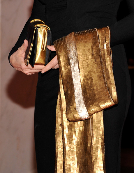 Diane Sawyer Sequined Scarf [red carpet,metal,hand,room,diane sawyer,washington dc,washington hilton,white house correspondents association dinner]