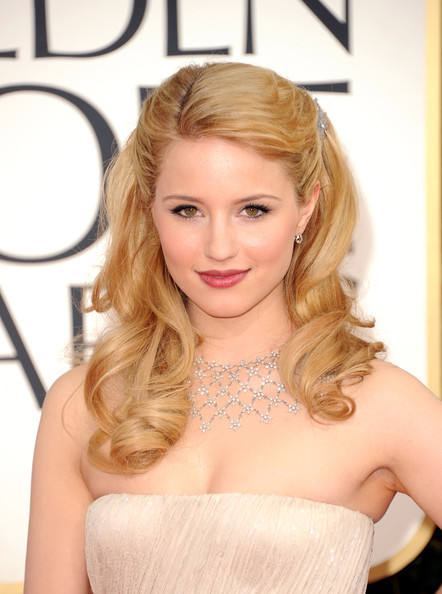 Dianna Agron Long Curls