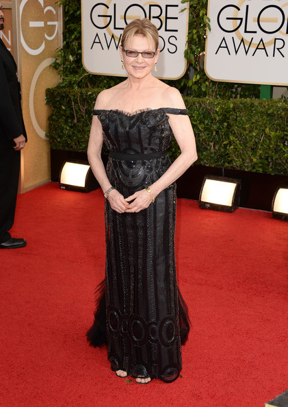 Dianne Wiest Off-the-Shoulder Dress