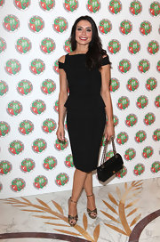 Christine Bleakley wore this black peplum cutout dress to the Didier Drogba Foundation Charity Ball.