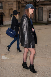 Pauline Ducruet donned a pair of black wedge boots for the Didit fashion show.