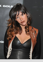 Paz de la Huerta wore her hair in bouncy ombre curls at the Diesel Black Gold fashion show.