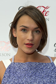Ella Catliff attended the Diet Coke and J.W. Anderson launch party wearing her hair in a casual bob.