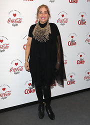Brix Smith-Start opted for a simple little black dress for her look at the Diet Coke and March Jacobs launch party.