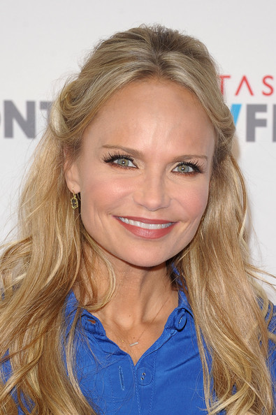 More Pics of Kristin Chenoweth Half Up Half Down (1 of 8) - Updos Lookbook - StyleBistro