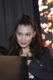 Bella Hadid looked adorable wearing this bouncy half-up style at the Dior Addict Lacquer Plump party.