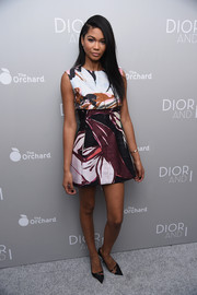For her shoes, Chanel Iman chose vintage-chic pointy pumps by Dior.