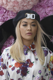 Rita Ora attended the Dior Homme Spring 2019 show wearing a black CD beret.