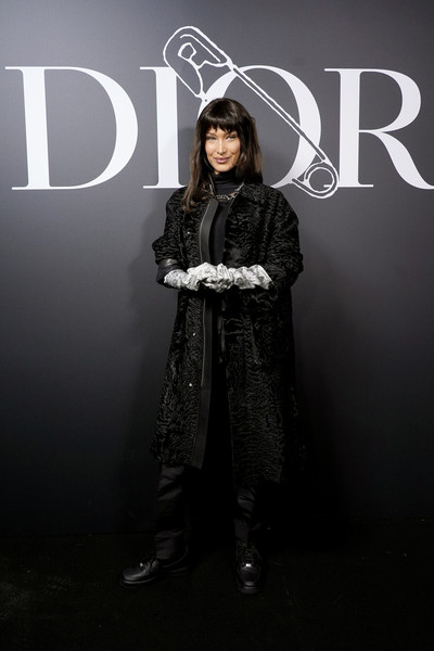 More Pics of Bella Hadid Long Straight Cut with Bangs (1 of 5) - Bella Hadid Lookbook - StyleBistro [fashion,beauty,outerwear,design,fashion design,photography,long hair,style,fur,darkness,dior homme,bella hadid,part,paris,france,dior homme menswear fall,photocall - paris fashion week,show,paris fashion week,cara delevingne,paris fashion week,dior,fashion,dior homme,fashion week,dior diorshow,model,celebrity]