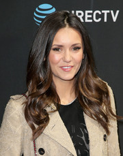Nina Dobrev looked sweet with her long wavy 'do while attending DirecTV Super Saturday Night.