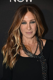 Sarah Jessica Parker stuck to her usual center-parted waves when she attended the DirecTV Now launch.
