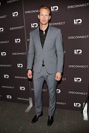 Alexander Skarsgard looked dapper and sleek in this two-button, notch-lapel suit.