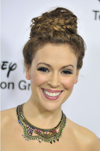 How to DIY Alyssa Milano's Braided Bun