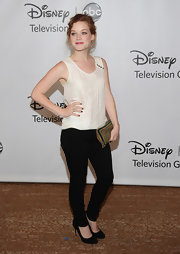 Jane Levy wore black skinny pants at the TCA Summer tour.