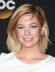 Analeigh Tipton added a dose of glamour to her simple 'do with a pair of huge H. Stern diamond studs.