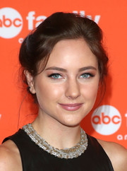 Haley Ramm swept her hair up into a loose updo for the TCA Summer Press Tour.
