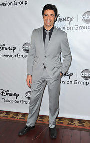 Gilles Marini paired his light gray suit with a dark shirt and tonal tie for a sophisticated finish.