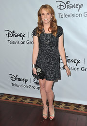 Lea Thompson looked youthful in a polka-dot dress for the Disney Winter Press Tour.