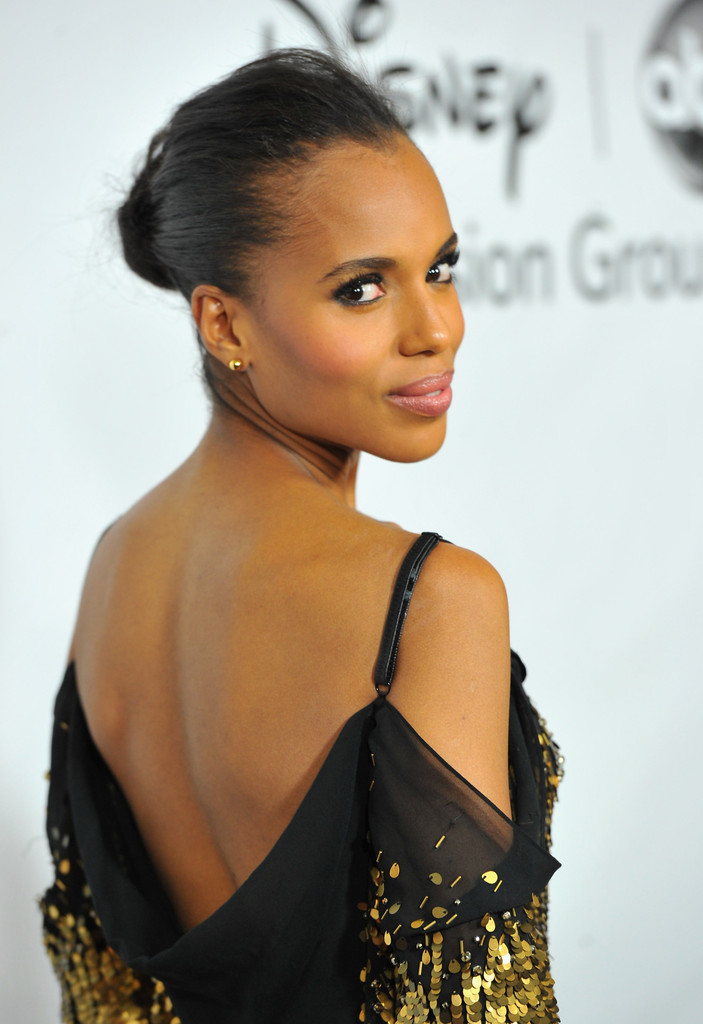 "Actress Kerry Washington arrives to the Disney ABC Television Group&squot;s ""TCA Winter Press Tour"" on January 10, 2012 in Pasadena, California."