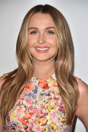 Camilla Luddington wore her hair down in a gently wavy, center-parted style at the Disney ABC TCA Summer Press Tour.