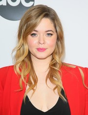 Sasha Pieterse sported perfectly styled waves at the Disney ABC Television TCA Winter Press Tour.