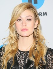 Katherine McNamara was gorgeously coiffed with this partially braided wavy 'do at the Disney ABC Television TCA Winter Press Tour.