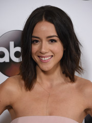 Chloe Bennett styled her hair with edgy waves for the Disney ABC Television Group Winter TCA Tour.