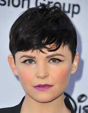 A skinny cat eye topped off Ginnifer Goodwin's beauty look at the Disney Media Upfront event in Burbank.