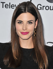 Meghan Ory's hot pink lips totally made a bold statement at the Disney Media Upfront event.