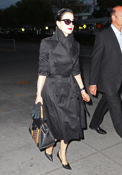More Pics of Dita Von Teese Trenchcoat (1 of 9) - Dita Von Teese Lookbook - StyleBistro