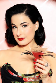 Dita looked absolutely breath-taking at the launch of my Private Cointreau Coffret.Her jet black waves gave her the ultimate retro-glam look.