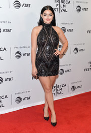Ariel Winter celebrated her curves in a fully beaded, skintight halter dress by Yousef Al-Jasmi at the Tribeca Film Fest premiere of 'Dog Years.'