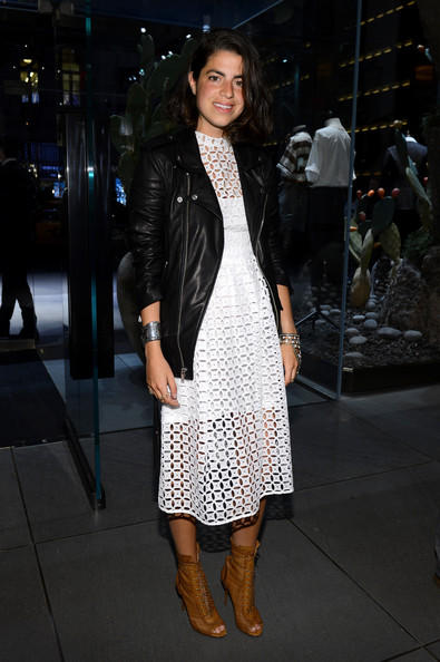 More Pics of Leandra Medine Leather Jacket (1 of 2) - Leather Jacket Lookbook - StyleBistro
