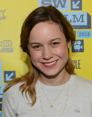 Brie Larson's vibrant red lips added a bit of pop to her tomboy look at SXSW.