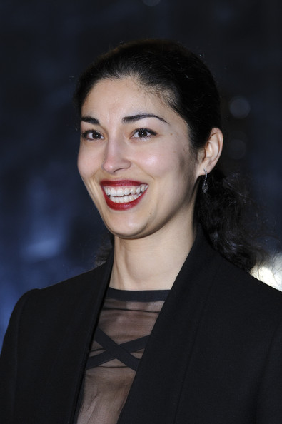 Caroline Issa pulled her wavy hair back into a ponytail for the Downing Street reception.