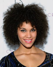 Dejah Brown celebrated New Year's Eve at Drai's Beach Club wearing her hair in a cool afro.