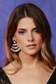 Ashley Greene dressed up her lobes with a pair of striped chandelier earrings by de Grisogono for the Venice Film Festival premiere of 'In Dubious Battle.'