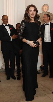 Kate Middleton couldn't have chose a more classic look than this black Diane von Furstenberg lace gown for the Anna Freud National Centre Gala.