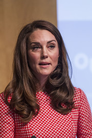 Kate Middleton showed off a lovely side-parted 'do with curly ends at the launch of Best Beginnings' maternal mental health films.