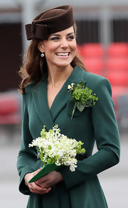 Kate Middleton looked charming in this chocolate felt cap with her green ensemble on St. Patrick's Day.